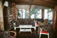 Cabin Porch On Red Lake